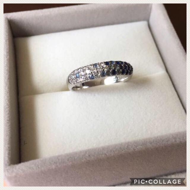 PonteVecchio(ポンテヴェキオ)の✴︎デコ様専用✴︎ポンテヴェッキオ パヴェリング ダイヤ×ブルーサファイア レディースのアクセサリー(リング(指輪))の商品写真