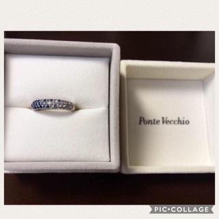 ポンテヴェキオ(PonteVecchio)の✴︎デコ様専用✴︎ポンテヴェッキオ パヴェリング ダイヤ×ブルーサファイア(リング(指輪))