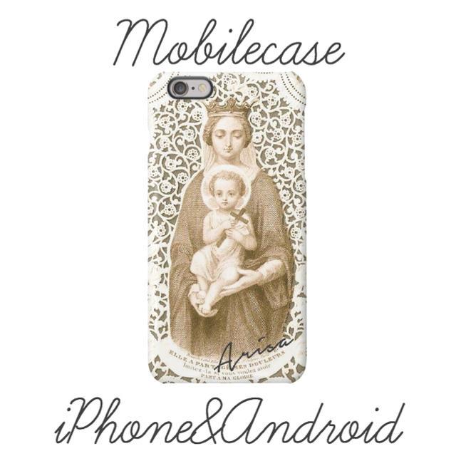 名入れ可能♡マリアレース柄スマホケース♡iPhone以外も対応機種多数あり♡の通販 by welina mahalo|ラクマ