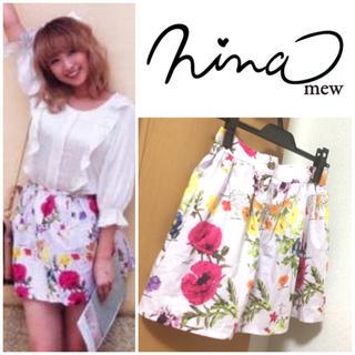 ニーナミュウ(Nina mew)のニーナミュウ♡花柄スカート♡(ミニスカート)