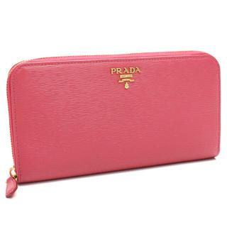 PRADA(プラダ)のプラダ アウトレット(PRADA(OUTLET)) ラウンドファスナー長財布 レディースのファッション小物(財布)の商品写真