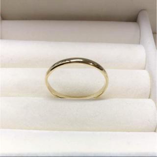 . k18  新品 22号 男女兼用  お揃いリングにも 安心の日本製(リング(指輪))