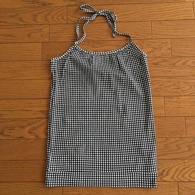 ホルターネック M サーモンピンク 新品 レディースのトップス(ホルターネック)の商品写真