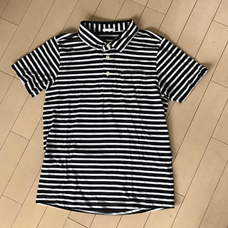 ジーユー(GU)の【新品】胸ポッケ♡ボーダーポロ♡150cm(Tシャツ/カットソー)
