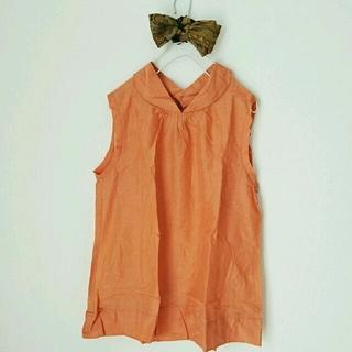 ハコ(haco!)のhaco NUSY 綿シルクのカラーノースリーブブラウス(シャツ/ブラウス(半袖/袖なし))