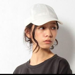 コーエン(coen)の新品☺︎完売 coen ホワイト キャップ フェイクスエード(キャップ)
