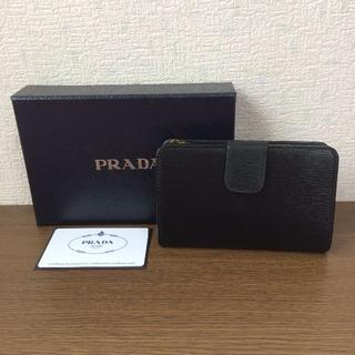 PRADA(プラダ)の新品!PRADA サフィアーノ 折りたたみ財布 ブラック NERO レディースのファッション小物(財布)の商品写真
