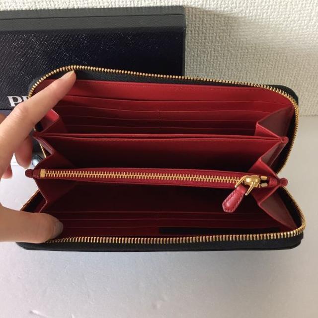 PRADA(プラダ)の新品!PRADA プラダ ラウンドファスナー長財布 BOX CALF レディースのファッション小物(財布)の商品写真