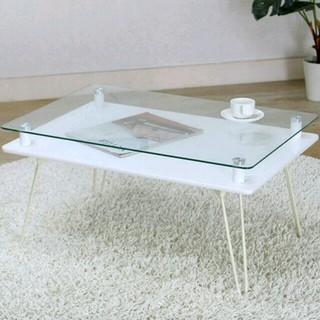《送料無料》ガラステーブル(ローテーブル)