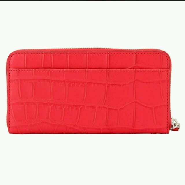 COACH(コーチ)の【新品】COACH(コーチ)クロコダイル レザー レッド 長財布 レディースのファッション小物(財布)の商品写真