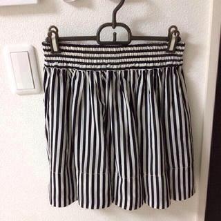 ローリーズファーム(LOWRYS FARM)のストライプギャザースカート(ミニスカート)