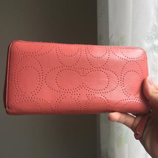 COACH(コーチ)のコーチ COACH 長財布 財布 レディース ピンク 美品 送料無料♪ レディースのファッション小物(財布)の商品写真