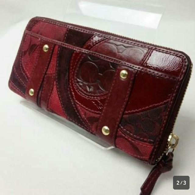 COACH(コーチ)のレア★コーチ★パッチワーク長財布★美品 レディースのファッション小物(財布)の商品写真