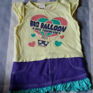エーアーベー(eaB)の【e.a.B】スカート付きTシャツ 80cm(Tシャツ)