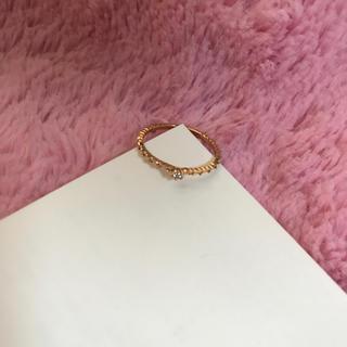 アガット(agete)の♡新品♡agete♡アガット♡K10YG×ダイヤモンド♡ハートエタニティリング♡(リング(指輪))
