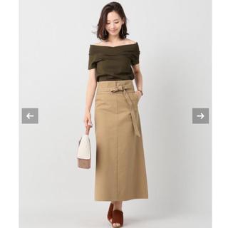 ノーブル(Noble)のコットンネップハイカウントクロススカート(Noble)(ロングスカート)