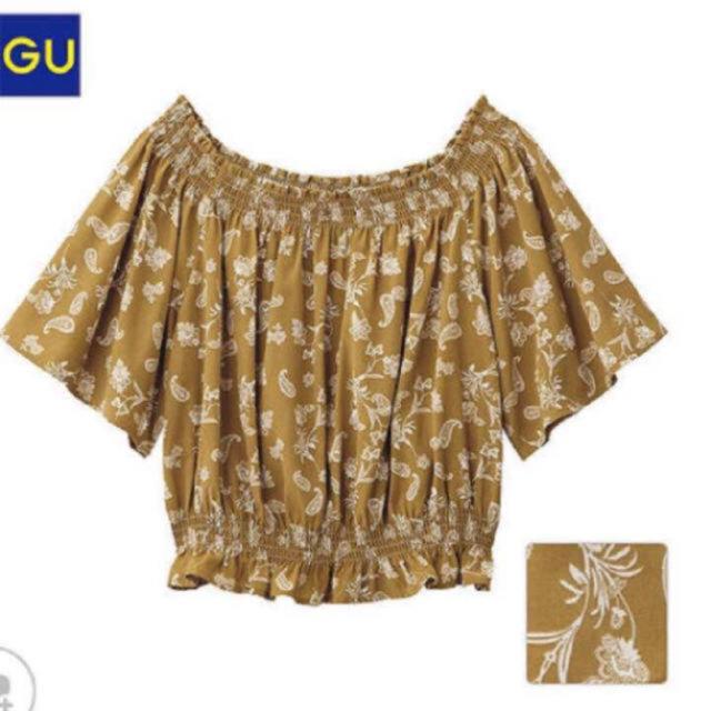 GU(ジーユー)のGU オフショル ブラウス レディースのトップス(シャツ/ブラウス(半袖/袖なし))の商品写真