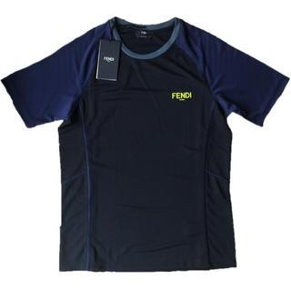 フェンディ(FENDI)のフェンディ メンズ シンプル ロゴ 夏生地 タグ付き XS 新品 正規(Tシャツ/カットソー(半袖/袖なし))