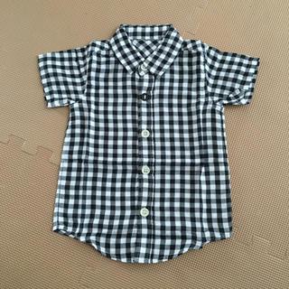 ムジルシリョウヒン(MUJI (無印良品))の新品未使用 100 ベルメゾン ギンガム 無印良品(Tシャツ/カットソー)