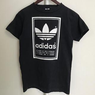 アディダス(adidas)のたろう様専用 90s adidas/アディダス ビッグロゴ 黒 白(Tシャツ/カットソー(半袖/袖なし))