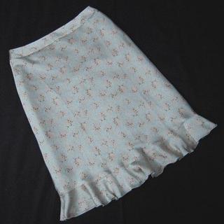 クローラ(CROLLA)のお値下げ☆aquagirl CROLLA 花柄スカート36美品 アクアガール(ひざ丈スカート)