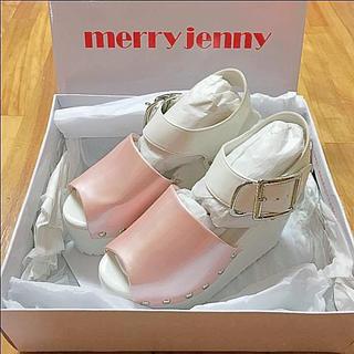 メリージェニー(merry jenny)の新品♡merry jenny MILK JILU STUART EATME(サンダル)