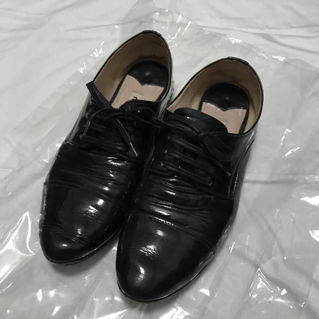 miumiu(ミュウミュウ)のmiumiu ミュウミュウ プラダ ビジュー オックスフォード フラット 靴 レディースの