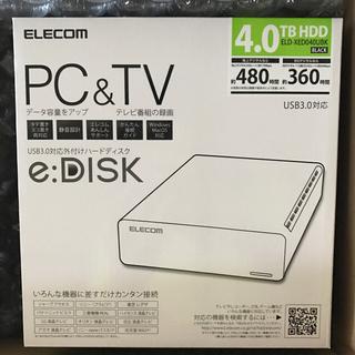 エレコム(ELECOM)の★新品★外付けHDD 4.0TB エレコム ELD-XED040UBK(PC周辺機器)