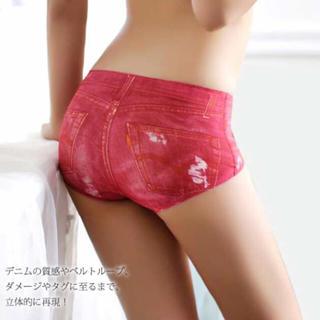 エメフィール(aimer feel)の新品 デニム風パンツ シームレスパンツ ノーラインパンツ ショーツ/下着(ショーツ)