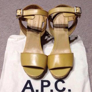 アーペーセー(A.P.C)のA.P.C アンクルストラップサンダル(サンダル)