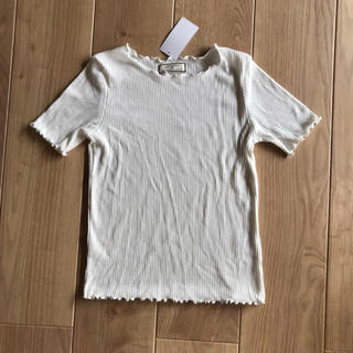 シマムラ(しまむら)のフリル メローTシャツ Lサイズ ホワイト 白 しまむら (Tシャツ(半袖/袖なし))