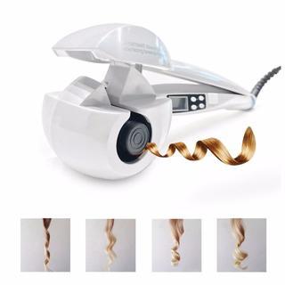 送料無料:新品 4色 はさむだけの自動巻きヘアアイロン MAX230℃ ホワイト(ヘアアイロン)