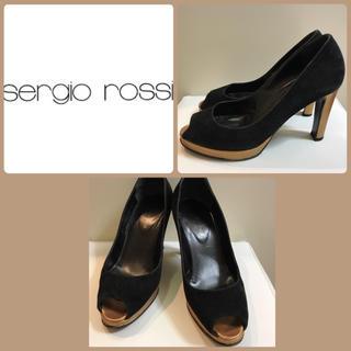 セルジオロッシ(Sergio Rossi)のセルジオロッシ♡ブラックスエード パンプス♡(ハイヒール/パンプス)