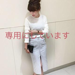 ノーブル(Noble)のSpick and Span Noble フープジップタイトスカート 34(ひざ丈スカート)