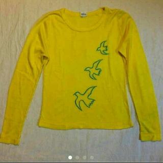 ノックアウト(KNOCKOUT)のアンティークロンT☆鳥☆黄色☆レトロ☆ヴィンテージ☆昭和(Tシャツ(長袖/七分))