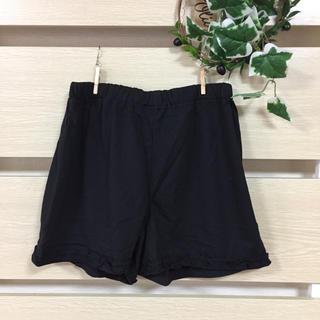 Lサイズ 黒のひらひらがかわいい♡ルームウェアショートパンツ(ルームウェア)
