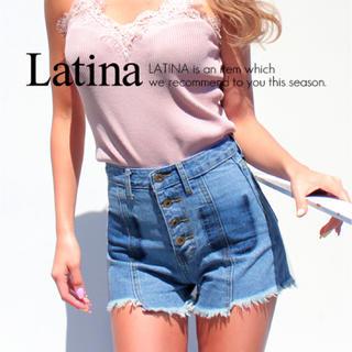 アナップラティーナ(ANAP Latina)のANAP Latina☆新品タグ付き☆ハーフカット前ボタンデニムショートパンツ(ショートパンツ)