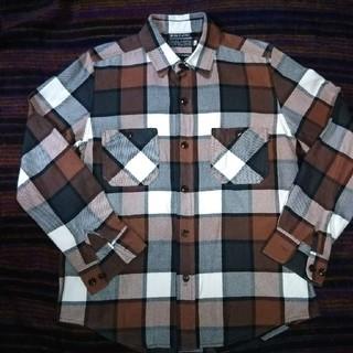 デラックス(DELUXE)のDELUXE × schott ネルシャツ ブロックチェック(シャツ)