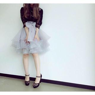 リズリサ(LIZ LISA)のボリュームオーガンジーミニスカート(ひざ丈スカート)