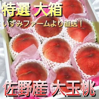 特選品!熟成桃 大箱(2.2〜2.5kg)6〜9玉入り 産地直送!