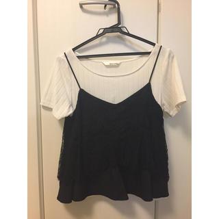 ミスティウーマン(mysty woman)のmaysty woman レースキャミセット(Tシャツ(半袖/袖なし))
