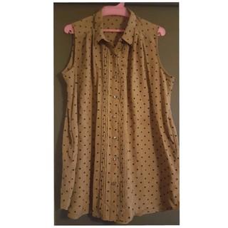 ジーユー(GU)のGU ノースリーブチュニックシャツ(シャツ/ブラウス(半袖/袖なし))