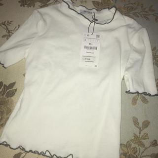ザラ(ZARA)の新品未使用 zara ザラ 今期 トップス Tシャツ ハイネック(Tシャツ(半袖/袖なし))
