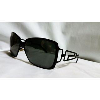 ジャンニヴェルサーチ(Gianni Versace)の正規美 激レア ヴェルサーチ グレカGエンブレムメタルフレームサングラス黒 眼鏡(サングラス/メガネ)