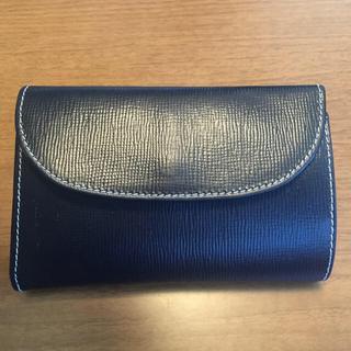 ホワイトハウスコックス(WHITEHOUSE COX)の三つ折り財布 ネイビー×イエロー色(折り財布)