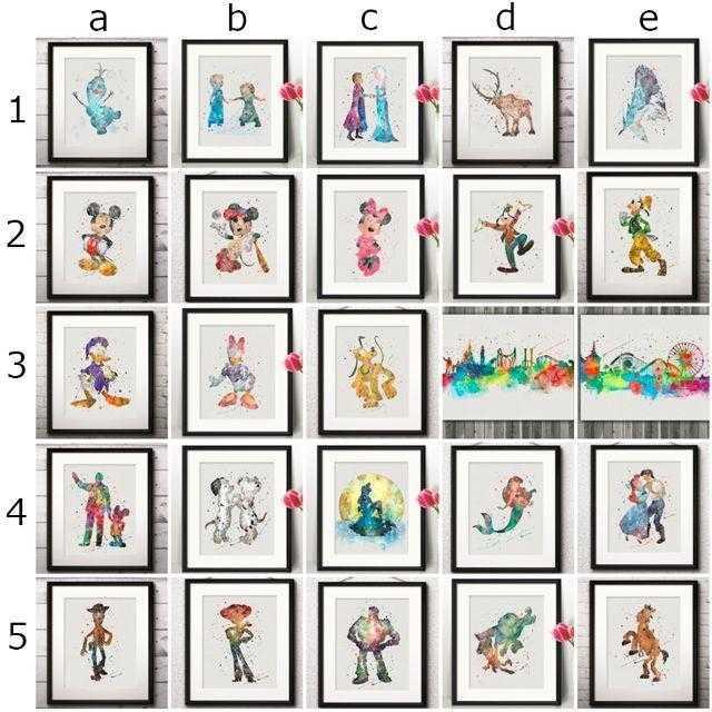 Disney(ディズニー)のベル&ビースト│美女と野獣│ディズニー/Disney│アートポスター エンタメ/ホビーのアニメグッズ(ポスター)の商品写真