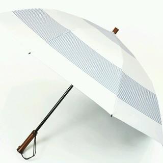 新品【サンバリア100】二段折ボーダー(ブルー)一番人気完売品切/完全遮光日傘