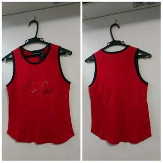 ダナキャランニューヨークウィメン(DKNY WOMEN)のDKNY JEANS/ダナ・キャラン・ニューヨーク/ノースリーブシャツ/レッドS(Tシャツ(半袖/袖なし))