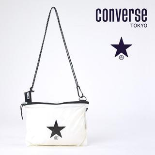 コンバース(CONVERSE)の新品未使用 TOKYO コンバース トウキョウ サコッシュ 白 売れ筋 No.1(ショルダーバッグ)