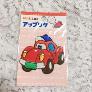 アップリケ Red Car  ワッペン(各種パーツ)